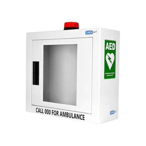 Defibrillator Cabinet - Alarmed with Strobe Light