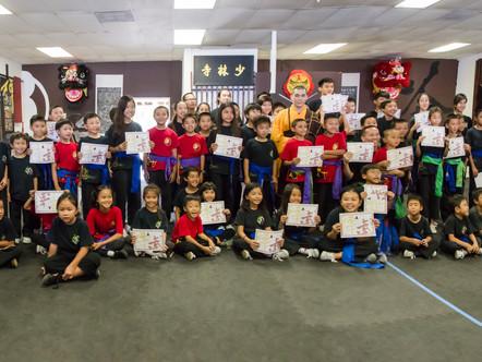 Shaolin Warrior Academy Belt Celebration