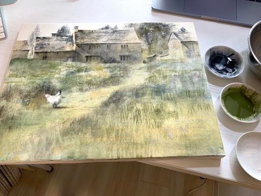 日本画 風景 描き方