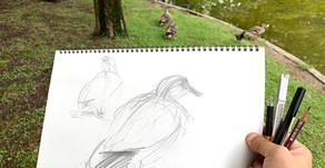 日本画描き方 動物クロッキー