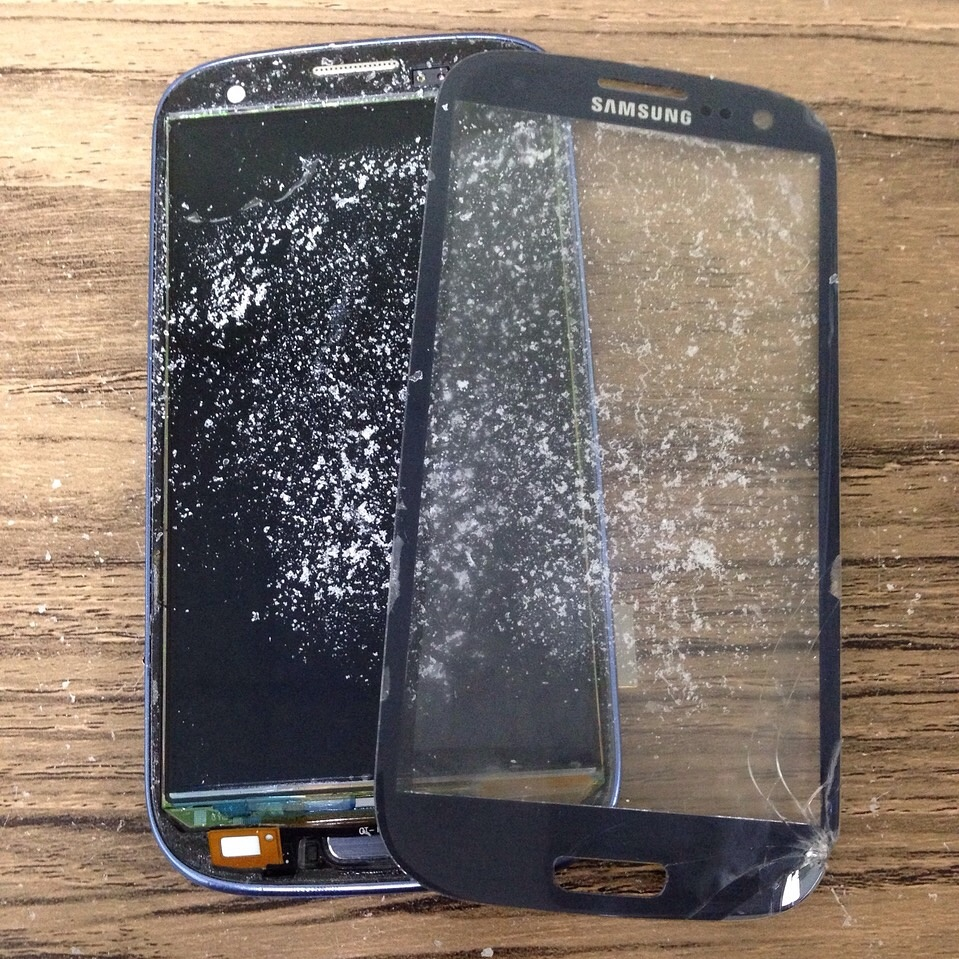 Samsung S3 Glass Removal