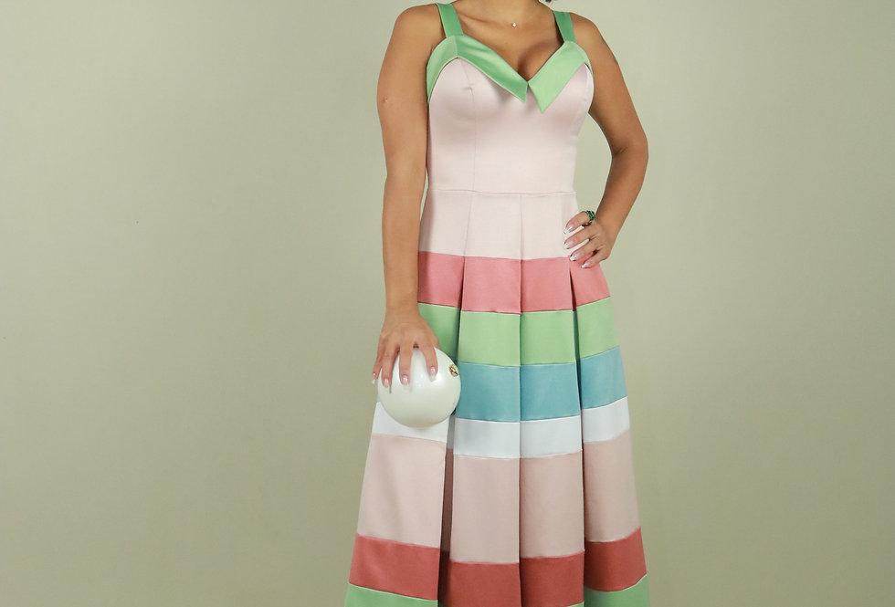 Vestido de Aluguel Longo Estampado VE 706 SH