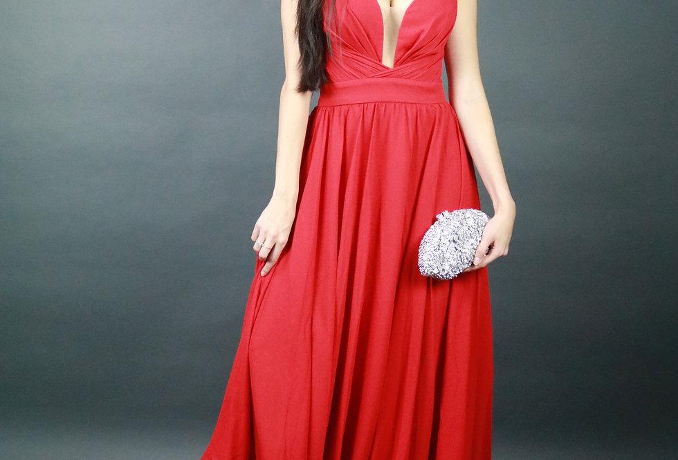 Vestido de Aluguel Longo Vermelho