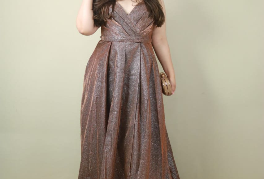Vestido de Aluguel Bronze Longo 10648 SB