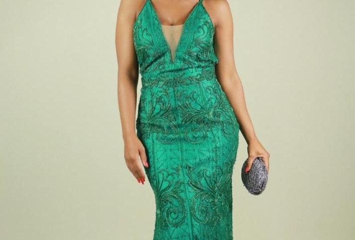 Vestido Longo Bordado Verde