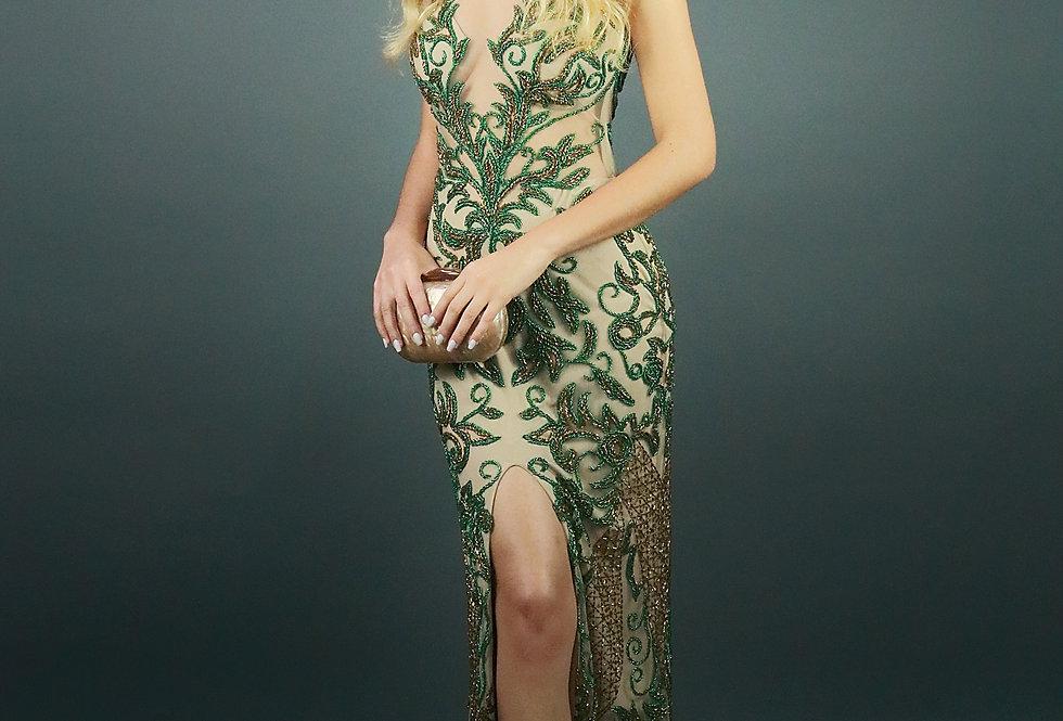 Vestido de Aluguel Verde Longo 1110 RC