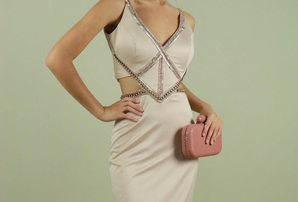 Vestido de Aluguel Longo Rosa 2375 PT