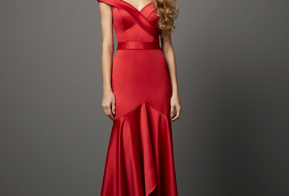 Vestido de Aluguel Liso P13236 PT
