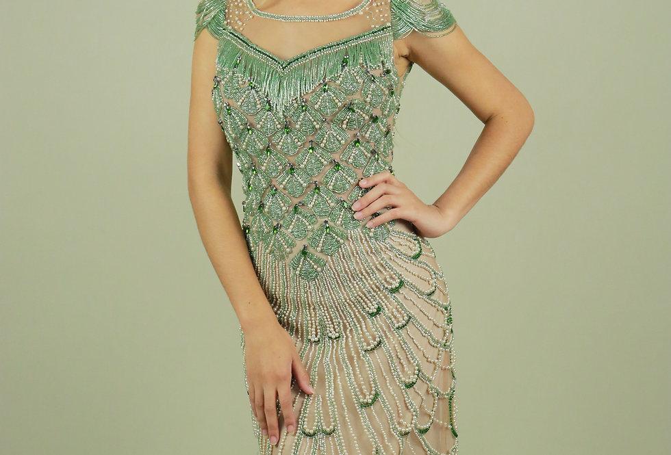 Vestido de Aluguel Longo Verde 2238 PT