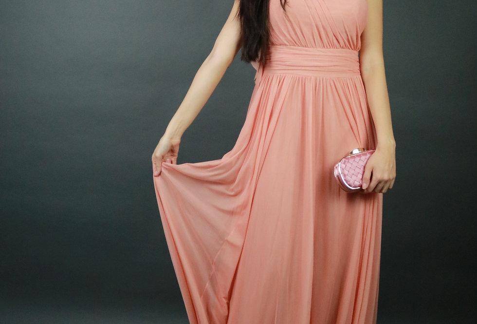 Vestido de Aluguel Longo Rosa VE 989 SH