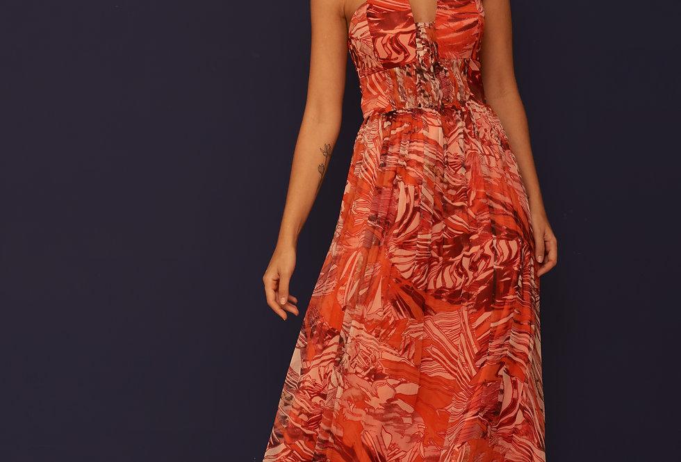 Vestido de Aluguel Longo Estampado VE 830 SH 42