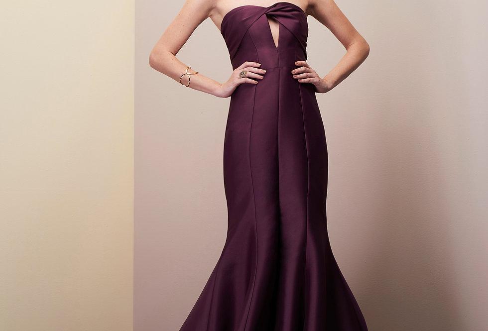 Vestido de Aluguel Figo Liso Longo 20923 FD