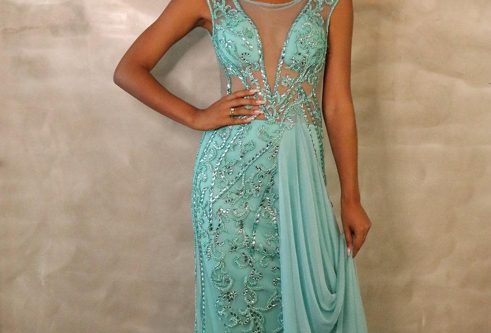 Vestido Tiffany Longo Bordado 1496 LB