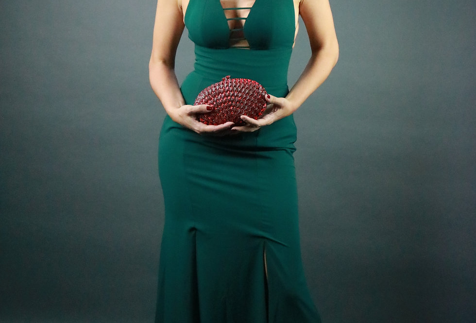 Vestido de Aluguel Longo Liso Verde 20706 FD