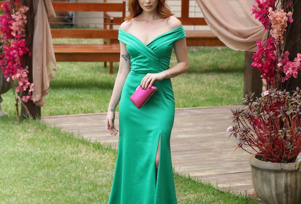 Vestido Verde Longo Liso VE790 SH