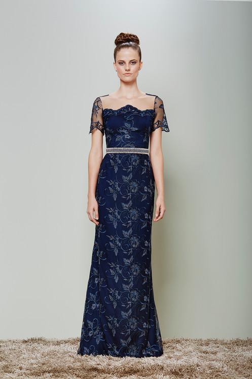 22ecff645 Vestido Azul Marinho Longo 1737 PT