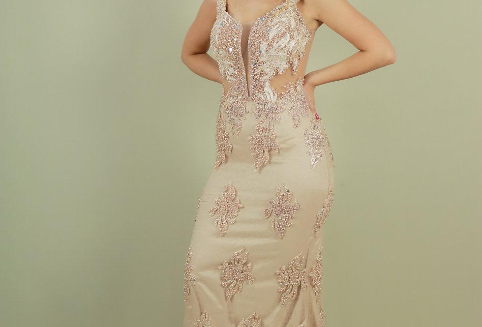 Vestido de Aluguel Longo Rosa 467 SP