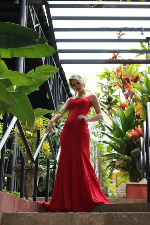 62082049f Vestido Vermelho Longo Liso 19958 FD