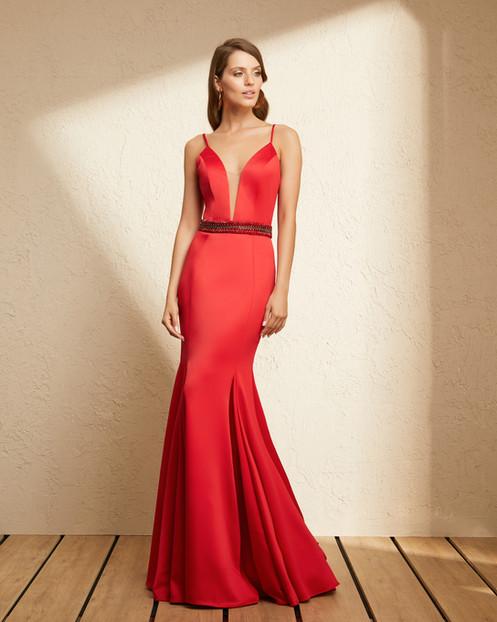 d47a00b13 Vestido Vermelho Longo Liso 19364 FD
