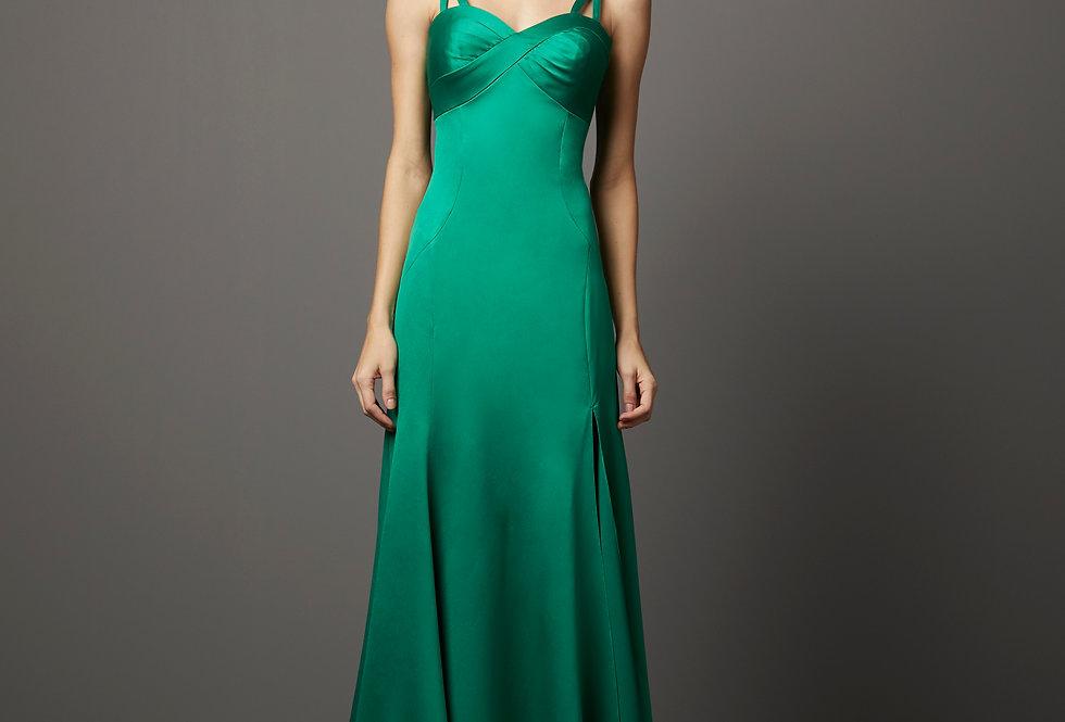 Vestido de Aluguel Liso P13261 PT