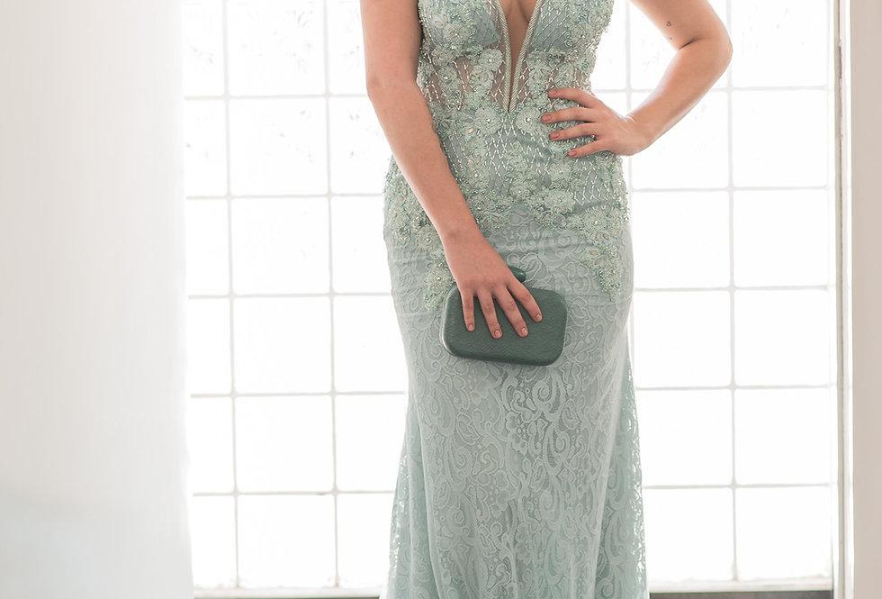 Vestido Tiffany Longo Leve Bordado