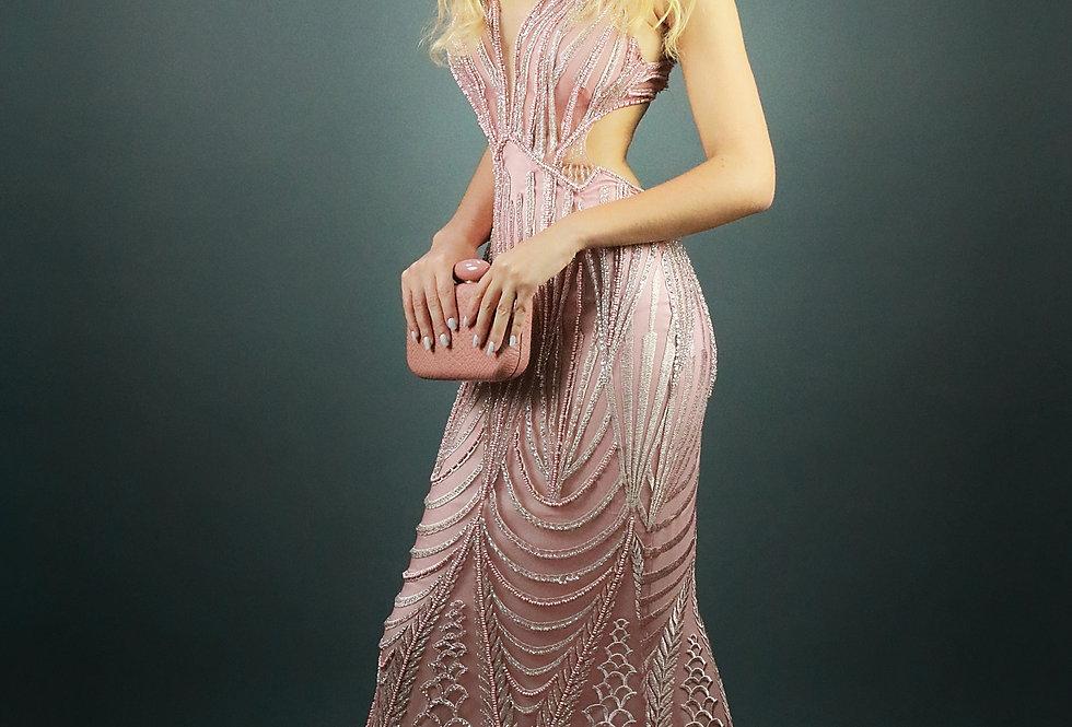 Vestido de Aluguel Longo Bordado SP 978