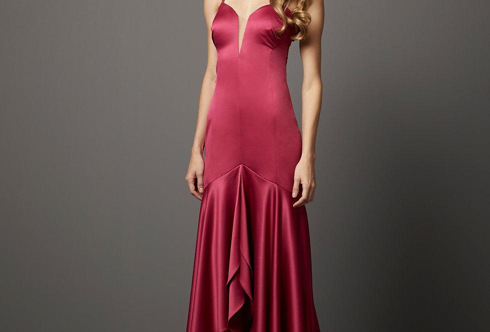 Vestido de Aluguel Liso P13286 PT