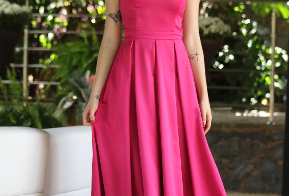 Vestido Rosa Pink Longo Liso VE650 SH 38