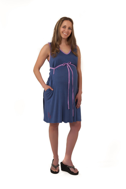 BLUEBERRY PIE BG Birth, Breastfeeding + Bonding Gown