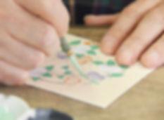 kyoto,yuzen,workshop,kimono,art,京都,着物,キモノ,ワークショップ,キモノアート,キモノデザイン,design,絵ハガキ,絵はがき,絵はがき教室,painting,drawing