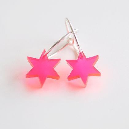Little star | ø15 sølv/pink