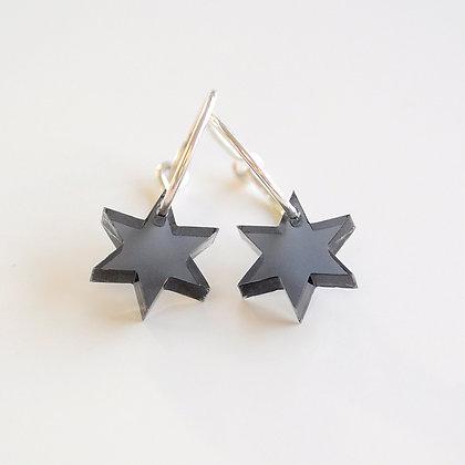 Little star | ø15 sølv/sort