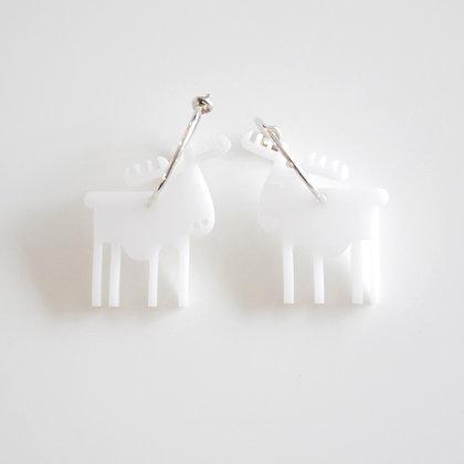 Reindeer   ø15 sølv/hvid