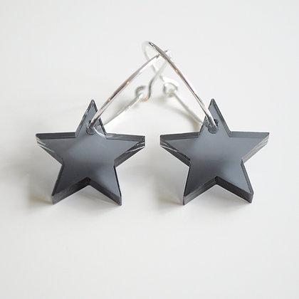 Big star | ø20 sølv/sort