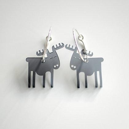 Reindeer   ø20 sølv/sort