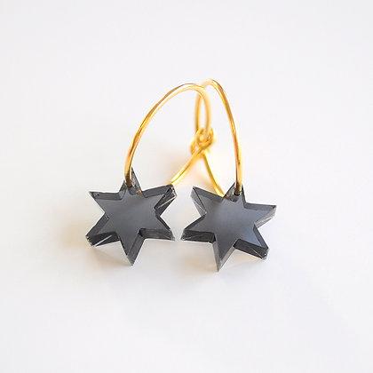 Little star | ø15 guldbelagt/sort