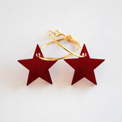 Big star | ø20 guldbelagt/bordeaux