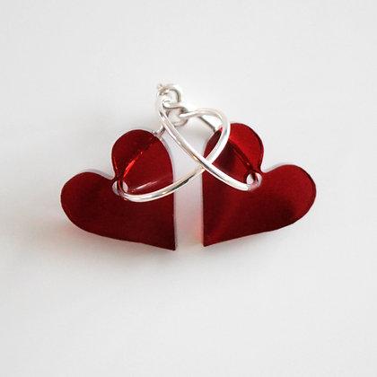 Heart | ø15 sølv/bordeaux
