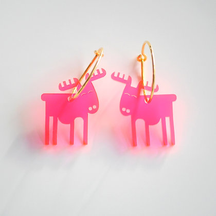 Reindeer | ø20 guldbelagt/pink