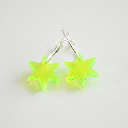 Little star | ø15 sølv/grøn
