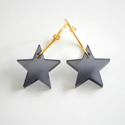 Big star | ø20 guldbelagt/sort