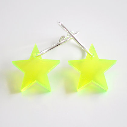 Big star | ø20 sølv/grøn