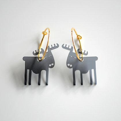 Reindeer | ø20 guldbelagt/sort
