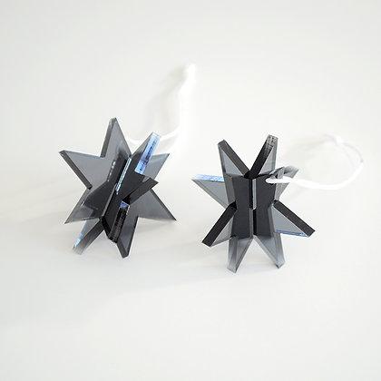 3D star   hvid/sort