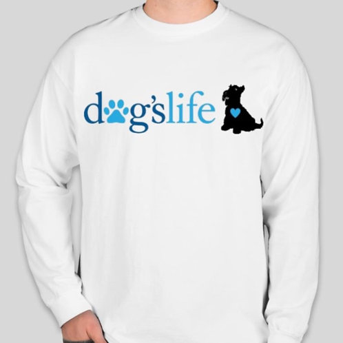 dogslife Long Sleeve T-Shirt (White)