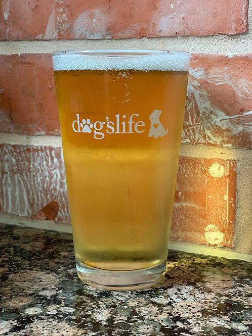 dogslife Pint Glass