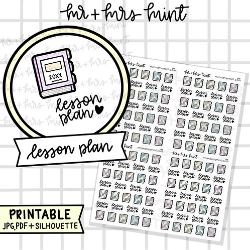 Lesson Plan | Printable