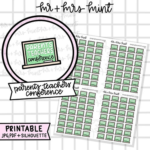 Parents / Teacher Conference | Printable