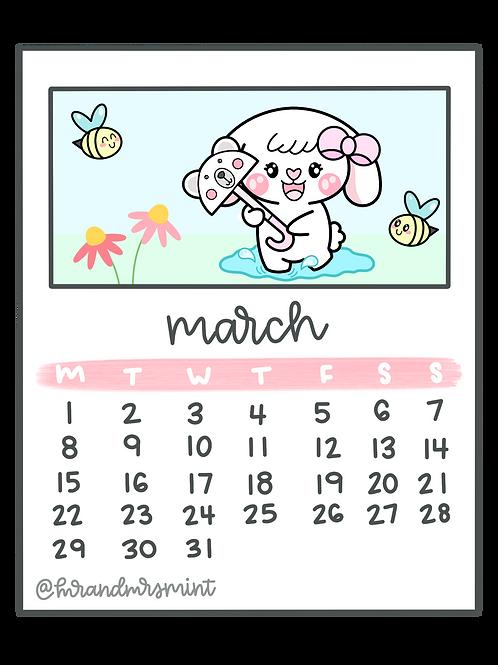 MARCH 2021 Calendar | Printable