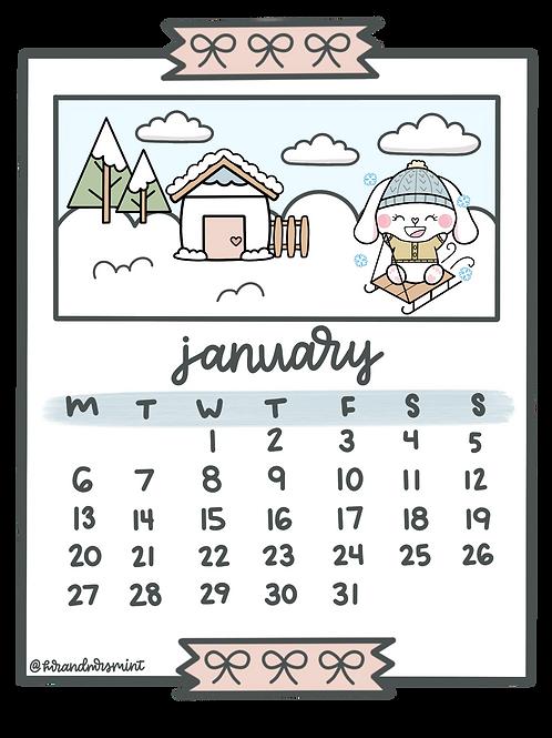 January 2020 Calendar | Printable
